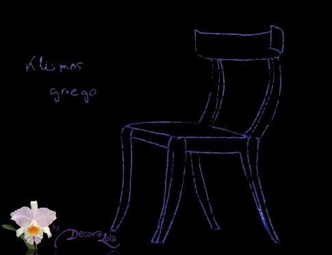 Boceto de Klismos Griego