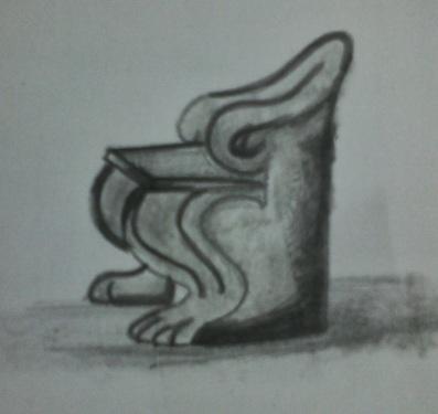 Mobiliario antiguo. Antigua Grecia. Proeda o Trono