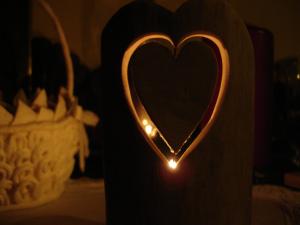 portavelas corazon