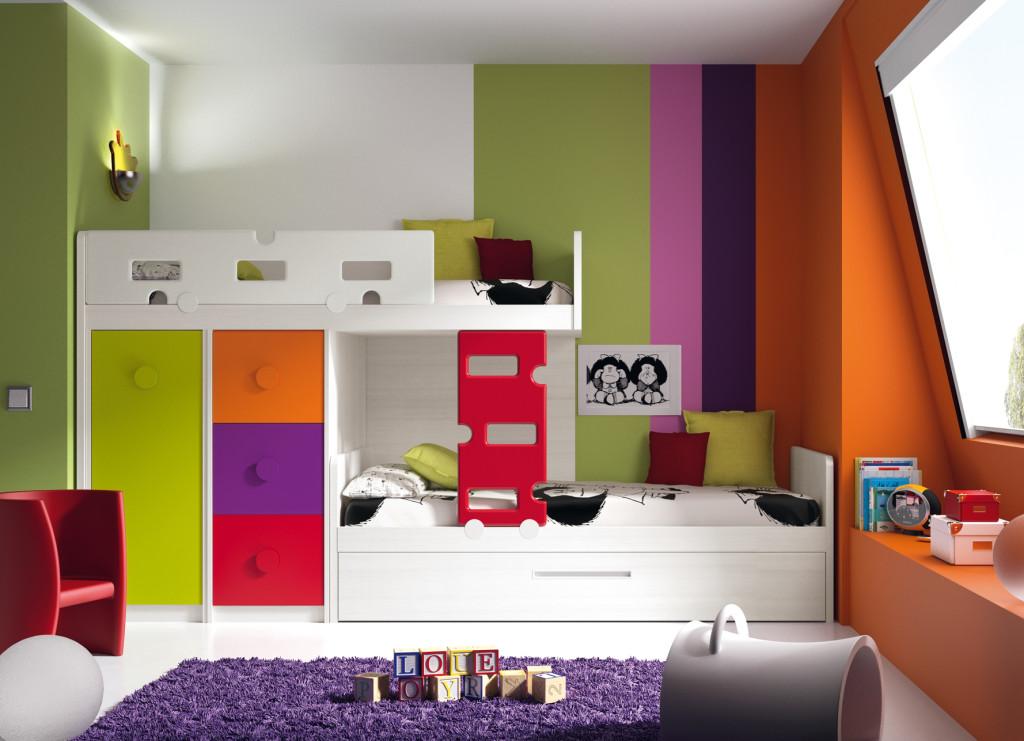 Piensa en verde decorarte by decoralola - Habitaciones infantiles compartidas ...